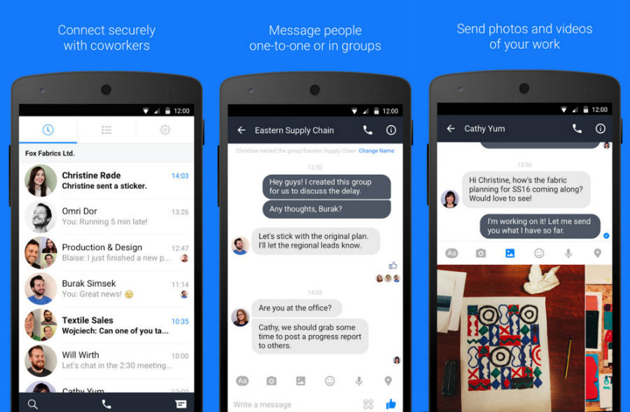 Facebook Introduces Work Chat